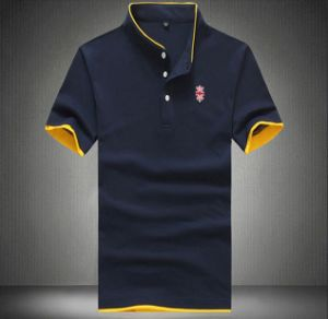 Hot Sale 100%Cotton Slim Fit Men Polo T Shirt pictures & photos
