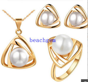 Fashion Pearl 925 Sterling Silver Jewelry Set (S1275) pictures & photos