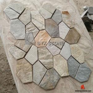 Natural Yellow Slate Tile Garden Patio Paving Flagstone pictures & photos