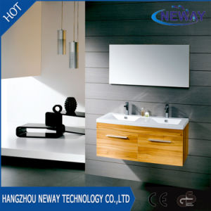Simple Double Basin Melamine Bathroom Furniture Cabinet pictures & photos