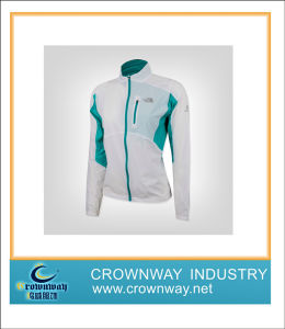 Green and White Waterproof Lightweight Jacket for Lady pictures & photos