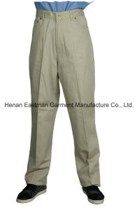 100%Cotton Men′s Khaki Pants Leisure Soft Trousers pictures & photos