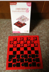 Checker, Snakes & Ladders Color Box Package Game