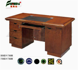MDF High Quality PU Cover Wood Veneer Office Table pictures & photos