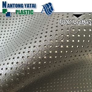 Soft Punching Hole Microfiber PVC Artificial Leather for Automotive Decoration
