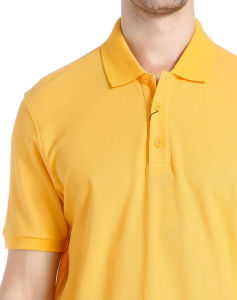 Design Adult Cotton Pique Yellow Polo Shirt pictures & photos