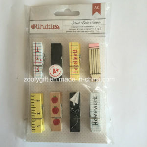 Wooden Embellishments School Screenprinted Clothespins pictures & photos