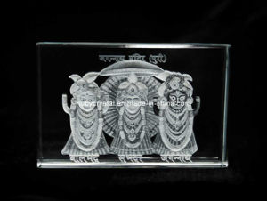 3 Inches Crystal Engraved with Jagannath Ji Image for Hinduism (R3019) pictures & photos