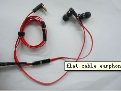 Flat Cable Earphone for iPhone