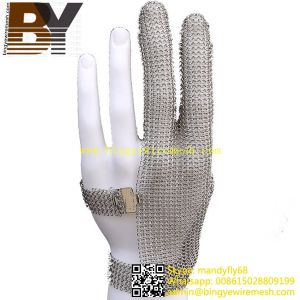 Ring Type Glove Stainless Steel Mesh Chainmail Gloves pictures & photos