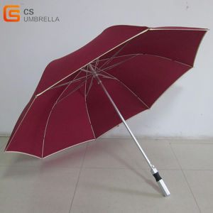"27""*8k White Fiberglass Straight Promotion Golf Umbrella (YSG016)"