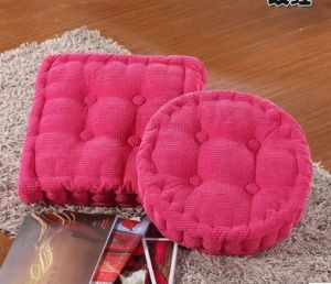 Corduroy Square or Round Shape Seat Cushion with Various Color
