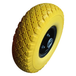 3.00-4 300-4 Flat Free PU Foam Wheel pictures & photos