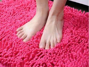 High Quality Polyester Chenille Non-Slip Bathroom Floor Mat