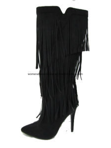 Lady Fashion High Heel Overknee Boots for Footwear pictures & photos