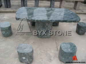 Green Granite Stone Outdoor Park Bench and Table pictures & photos