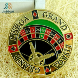 Stamping Brass Soft Ename Custom Poker Challenge Coin with Embossed Logo pictures & photos