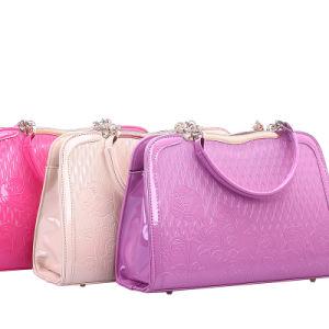 Mirror PU Leather Emboss Flower Women Brand Bags (XD140201)