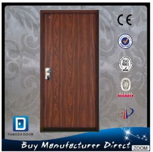 Teak Wood Red Walnut Bullet Proof Residential Main Security Exterior Steel Safety Door pictures & photos