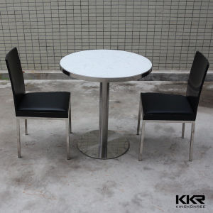 china 2 person black solid surface round dining table for restaurant china dining table round. Black Bedroom Furniture Sets. Home Design Ideas