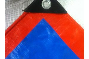 Blue/Orange PE Tarps/Plastic Tarpaulin pictures & photos