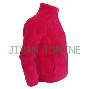 Junior Faux Fur Metal Zipper Fake Fur Jacket pictures & photos