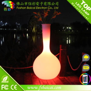 Garden Flower Pot with LED Light pictures & photos