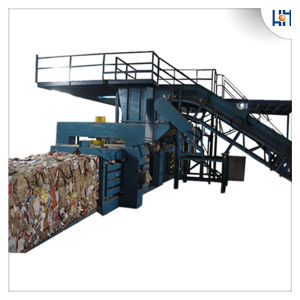 Full Automatic Waste Plastics Baler Machine with PLC Control pictures & photos