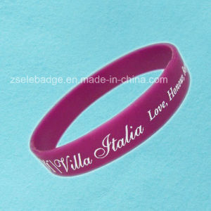 Printing Silicone Wristband for Promotion (Ele-WS015) pictures & photos