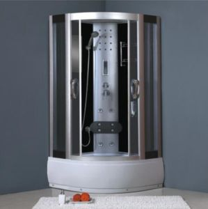 Corner Bathroom Steam Sliding Complete Glass Shower Cabinet Room pictures & photos