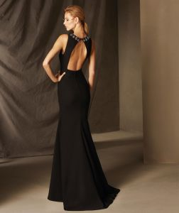 Hot Sale Brand Name Floor Length Mermaid Black Tulle Appliqued Full Figure Long Sleeve Evening Dresses From Dubai (LH0025) pictures & photos