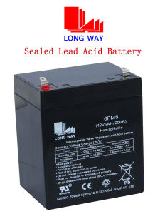 12V5ah Scooter Rechargeable UPS Lead Acid Battery pictures & photos