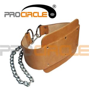 Customized Fashionable Brown Leather Weightlifting Belt (PC-WB1005) pictures & photos