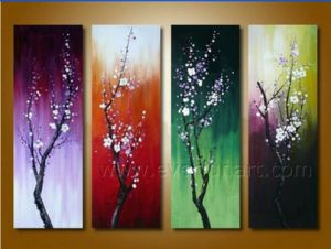 Beautiful Canvas Art Seasons Flower Oil Painting on Canvas (FL4-108) pictures & photos