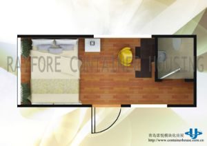 Prefabricated Steel Frame 20ft Container House for Living pictures & photos