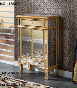 Solid Wood Mirrored Drawer Cabinet for Living Room pictures & photos