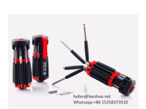 8 in 1 Escape Tools & Safety Hammer Multi Screwdrivers with LED Flashlight pictures & photos