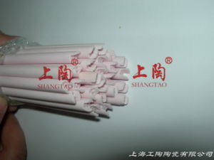 Single Grooving 4-Hole Alumina Ceramic Pipe pictures & photos