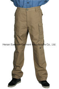 Canvas Cargo Pants 100%Cotton Work Trousers with Double-Layer Knees pictures & photos
