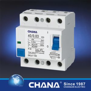 Residual Current Device with Overcurrent Protection Ce Certificate 4p RCD pictures & photos