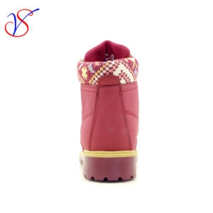 2016 New Style Women Work Boots Shoes for Job with Quick Release (SVWK-1609-029 WINE) pictures & photos