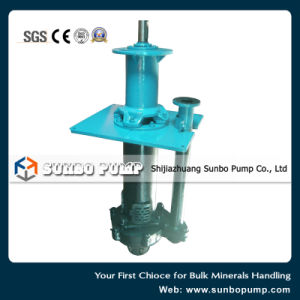 Rubber Lined Spindle Vertical Centrifugal Sump Pump for Water Treatment pictures & photos