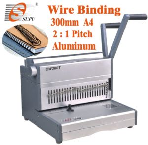 Wire Binding Machine Paper Punching/Binding Machine 2: 1 (CW300TE) pictures & photos