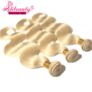 8A Grade Peruvian Human Hair Blonde Body Wave Texture pictures & photos