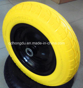 Different Color PU Material Rubber Wheel (3.50-8)) pictures & photos