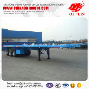 Factory Direct Selling 20FT 40FT Container Flatbed Semi Trailer pictures & photos