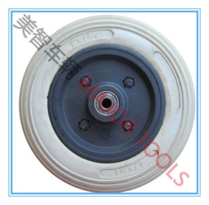 Plastic Rim 7 Inch PU Foam Rubber Stroller Wheel 7X2.5 pictures & photos