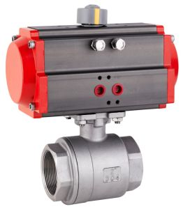 Pneumatic Actuator 2-PCS Ball Valve pictures & photos