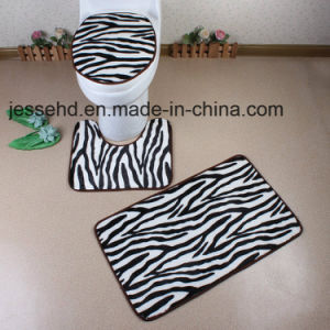 Popular Quality and Cheap PV Fleece Bath Mat Set pictures & photos