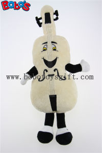 Beige Custom Plush Violin Mascot with Smile Face Toys Bos1126 pictures & photos